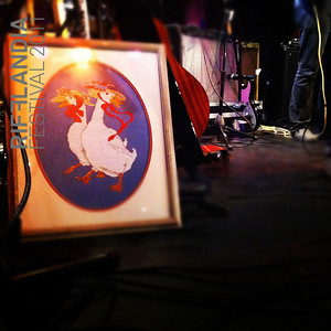 "Wool on wolves makes their set a little more ""home-y""   Photo: ©Kirsten Harris    Falling Satellites"