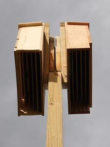 The 2 Bat Boxes, each could house 600 bats.