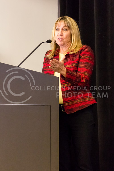 Cheryl Strecker, Esquire, Gave a presentation over First Ammendment Rights at the Rights and Resposibilities Panel on the 30th October, 2017. (Alex Shaw   Collegian Media Group)