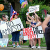 counter protesters & mixed messages
