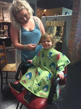 Riley's 1st Haircut - 2/20/2017