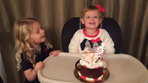Riley's 2nd Birthday Family Party (Polar Express Theme)