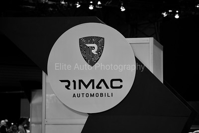 New York International Auto Show Rimac Sign