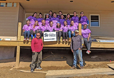 Alternative Spring Break in New Land, NC, to participate in the Habitat for Humanity Collegiate Challenge.