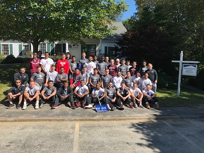 Sprint Football team at the  Monadnock Adult Care Center.