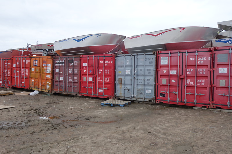 Inventory Containers Behind the Northern Store