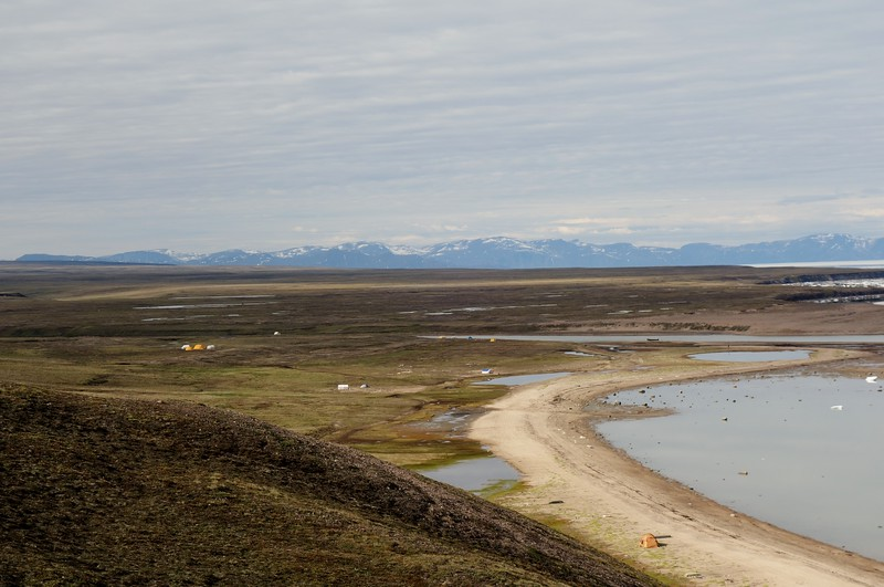 Fishing Tents at the Mouth of the Salmon River (near Pond Inlet)