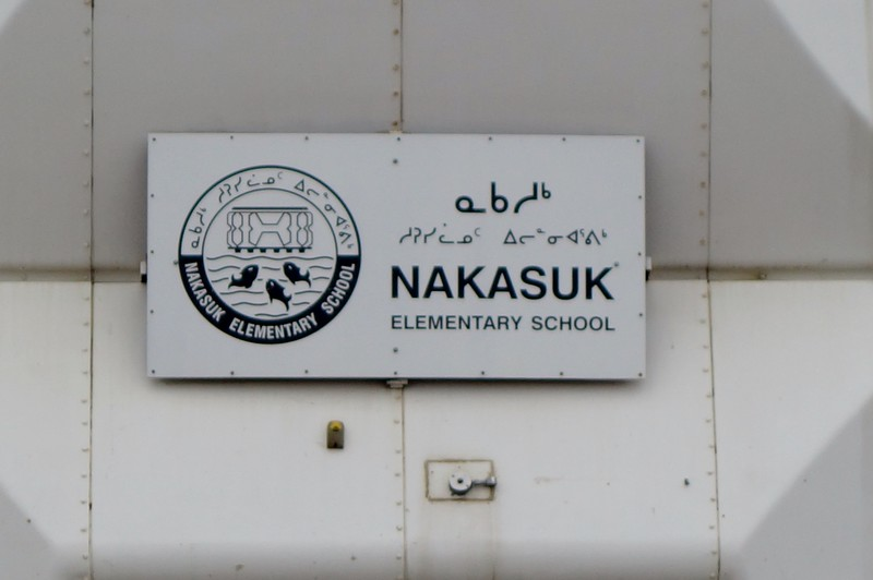 Nakasuk Elementary School Sign