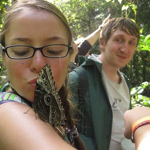 Ever kiss a butterfly?  Do it in Costa Rica.