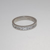 Palladium Channel Set Wedding Band with Diamonds