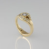 Hinged Ring Design Gold and Diamonds CM680r