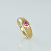 Our 'Venice' Ring in Gold with Pink Sapphire