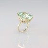 Classic Large Aquamarine Stone Ring in White Gold and Diamonds