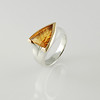 Silver Ring with Fantasy Cut Citrine