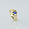 Our 'Florence' Design in Gold with a Blue Sapphire