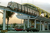 The monorail of the Barrashopping Mall takes customers from their cars to shops in Rio de Janeiro. (Australfoto/Douglas Engle)