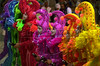 Members of the Mocidade samba school perform in the Sambadrome in Rio de Janeiro, Tuesday, February 12, 2002. (Australfoto/Douglas Engle)