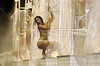 Women perform on a float of transparent showers of the Mocidade Samba School during carnival in Rio de Janeiro in 2001.(Douglas Engle/Australfoto)