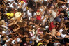 Revelers party during one of many street parades around carnival time in Rio de Janeiro. (Douglas Engle/Australfoto)