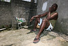 Jo‹o carlos, 39, relaxes in the Vila Alice slum in Rio de Janeiro, Brazil, Oct. 26, 2005. (Foto/Douglas Engle/Australfoto)