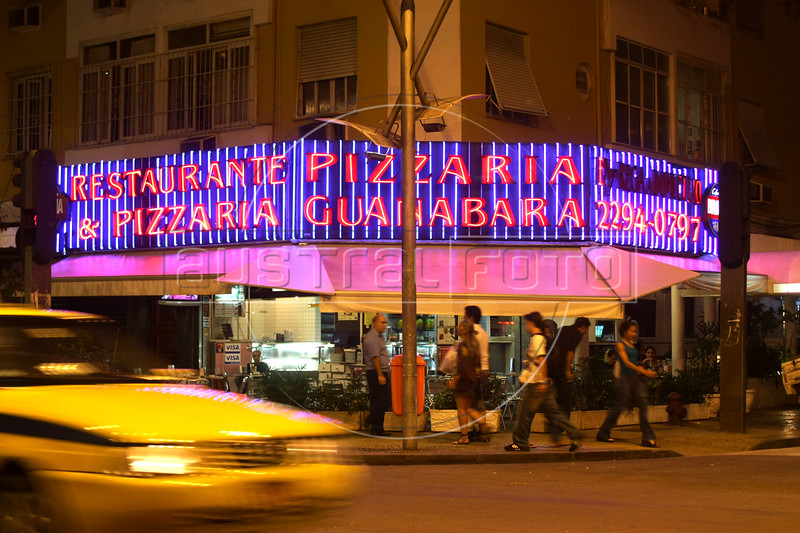 The Pizzaria Guanabara restaurant in the Leblon district of Rio de Janeiro, Brazil. (Australfoto/Douglas Engle)