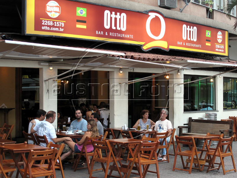 A view of the Otto bar and restaurant in the Tijuca district of Rio de Janeiro, Brazil. The bar is known for it's excellent menu, including roast heart of palm. (Australfoto/Douglas Engle)