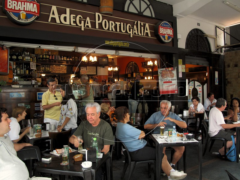 The Adega Portugalia restaurant, which serves Portugese-style tapas in the Flamengo district of Rio de Janeiro, Brazil. (Australfoto/Douglas Engle)