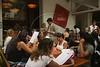 Clients at the Quadrucci restaurant in the Leblon district of Rio de Janeiro, Brazil. (Australfoto/Douglas Engle)