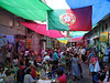 Members and supporters of the Portuguese community enjoy music and dance at the CADEG market in Rio de Janeiro. The Portuguese, who colonized the South American nation, continued to arrive even after independence in 1822. Rio de Janeiro, capital until 1960, received a significant amount of Portuguese and the cultural influence is strong.(Australfoto/Douglas Engle)