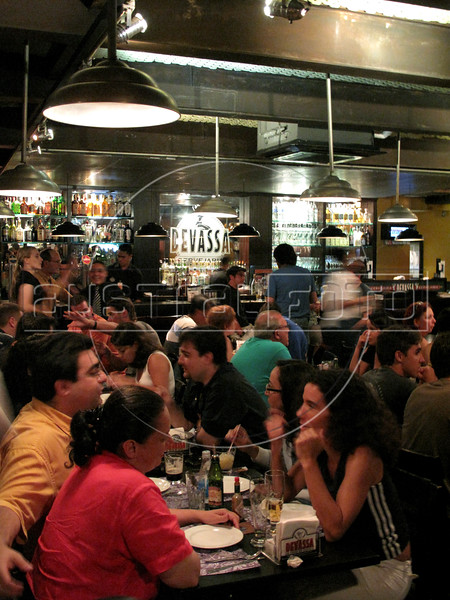 A view of the Devassa bar and restaurant in the Ipanema district of Rio de Janeiro, Brazil. The bar is known for it's own micro-brew beer of the same name and has several restaurants in strategic points around Rio. (Australfoto/Douglas Engle)