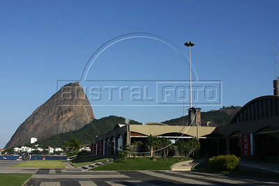 The Porcao restaurant, with a view of the Sugarloaf mountain, in the Flamengo district of Rio de Janeiro, Brazil. (Australfoto/Douglas Engle)