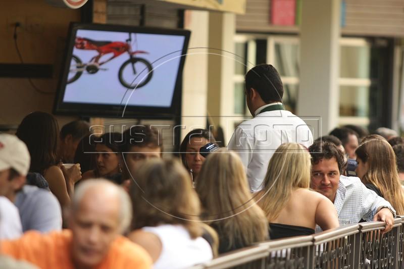 Clients at the Botequim Informal restaurant in the Leblon district of Rio de Janeiro, Brazil. (Australfoto/Douglas Engle)