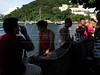 "Customers of ""Bar da Urca"" enjoy a beer on the wall over the Guanabara Bay in the Urca district of Rio de Janeiro.(Australfoto/Douglas Engle)"