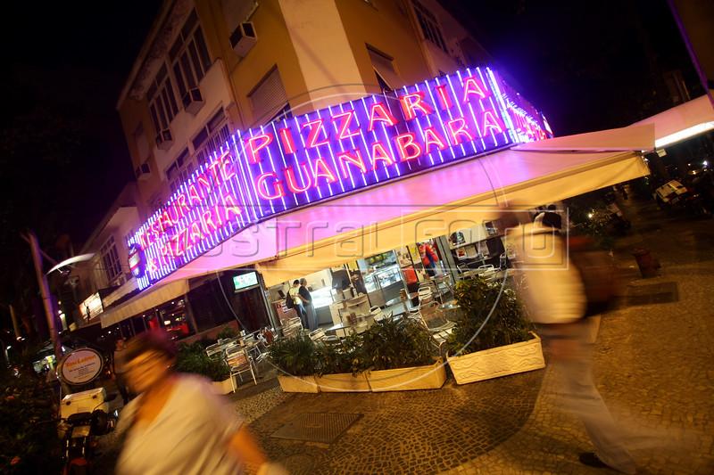 The Pizzaria Guanabara restaurant in the Leblon district of Rio de Janeiro, Brazil. (Australfoto/Douglas Engle)