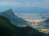 Christ the Redeemer, surrounded by the Tijuca National Forest, left presides over Rio de Janeiro and the city of Niteroi, in the distance.AustralFoto/Douglas Engle)