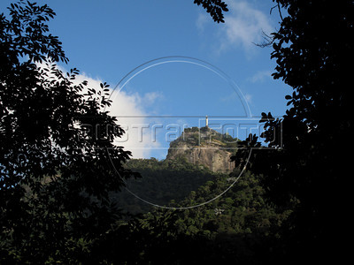 A view of the Christ the Redeemer statue through the Tijuca Forest National Park in Rio de Janeiro. The park, a forested mountain surrounded by an intensely populated urban area, is a model of preservation of the Brazil's Atlantic Forest ecosystem, of which only 7% remains. It is allegedly the largest urban forest in the world, and declared a National Park in 1961.  Formerly a coffee planting area and Rio's water source, Brazilian Emperor Dom Pedro II had the area completely reforested in the 1860s as the city's water supply began to dwindle. It is home to hundreds of species of plants and wildlife, many threatened by extinction (Australfoto/Douglas Engle)  (Australfoto/Douglas Engle)