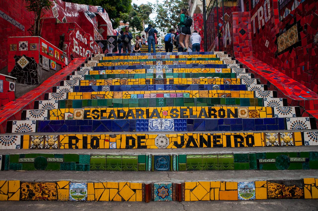 Selaron steps, Santa Teresa, Rio de Janeiro, Brazil