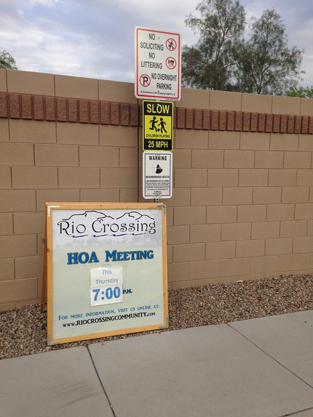 HOA Meeting Sign