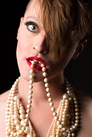 drag queen NYC pearl neckless