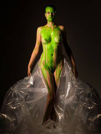 Nude fine art NYC greenphotography by Aaron Paul Rogers.