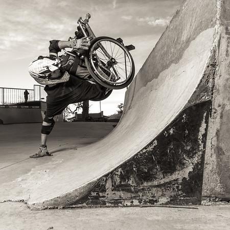 Blake Simpson WCMX, Disabled athlete, riot mob