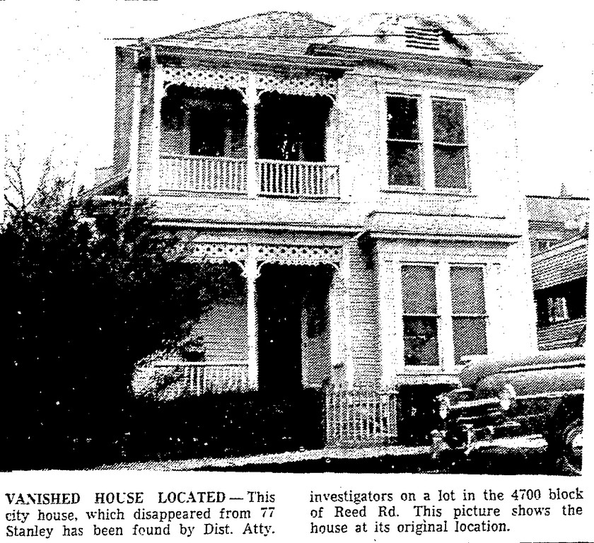The Stolen House at 77 Stanley Place in Houston, Texas