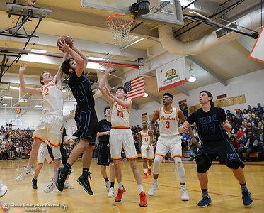 The Chico High boys basketball team hosts Pleasant Valley in a cross-town rivalry Friday, Feb. 10,2017, in Chico, California. (Dan Reidel -- Enterprise-Record)