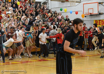 Chico fans cheer as the Panthers go up by one with 7 seconds left as the Chico High boys basketball team hosts Pleasant Valley in a cross-town rivalry Friday, Feb. 10,2017, in Chico, California. (Dan Reidel -- Enterprise-Record)