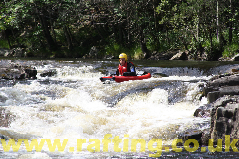 """River Bugging on the River Tummel near Pitlochry, Perthshire with Splash. <a href=""""http://rafting.co.uk"""">http://rafting.co.uk</a>"""
