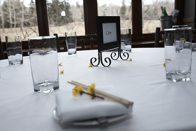 River Café Table with Cloth in Winter