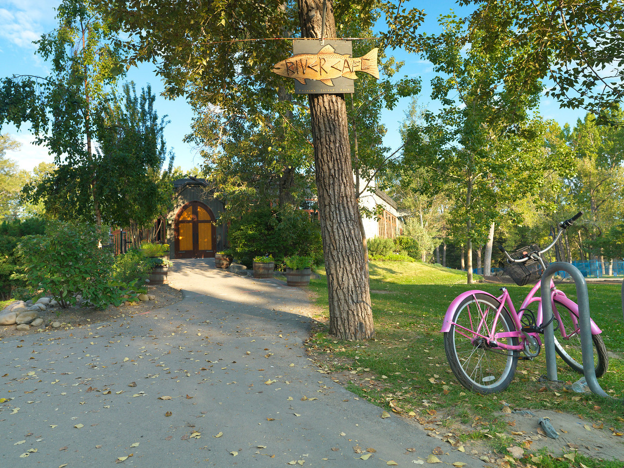 River Café Entrance & Bicycle