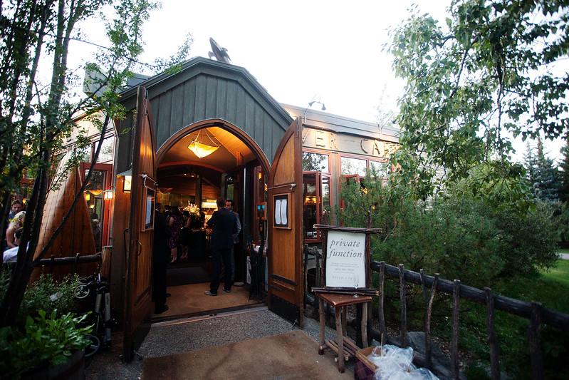 River Café Entrance in Summer