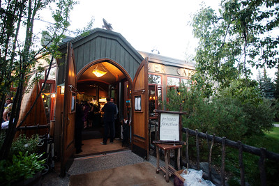 River Café Entrance in Summer