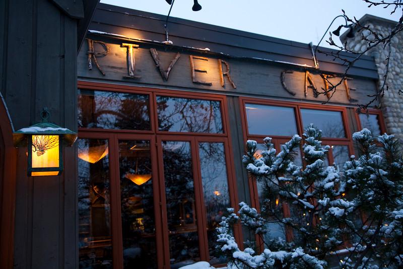 River Café Front Elevation Sign